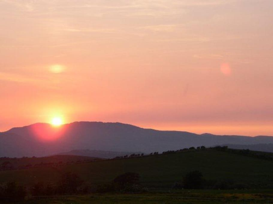 Sunset over Snowdonia from Pen y Ffrith