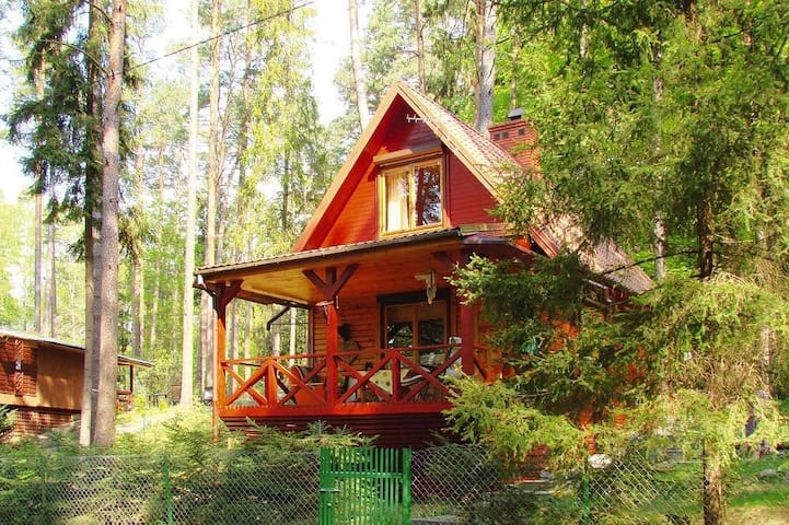 Uroczy domek położony w sercu lasu,Olsztyn/Rentyny - Gietrzwałd - Tatil evi