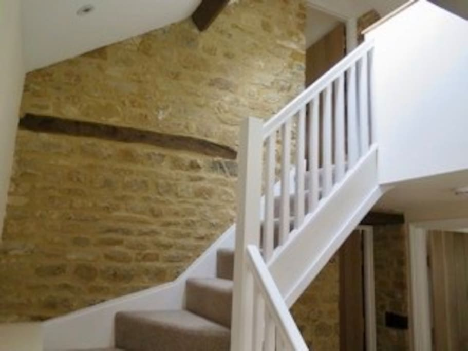 Recently renovated listed building, stairs to bedroom 2.