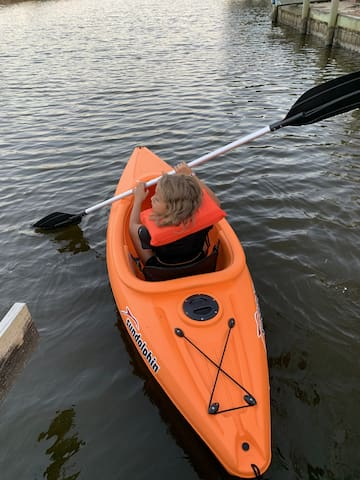 Kayak available for your enjoyment also a 2 seater inflatable available
