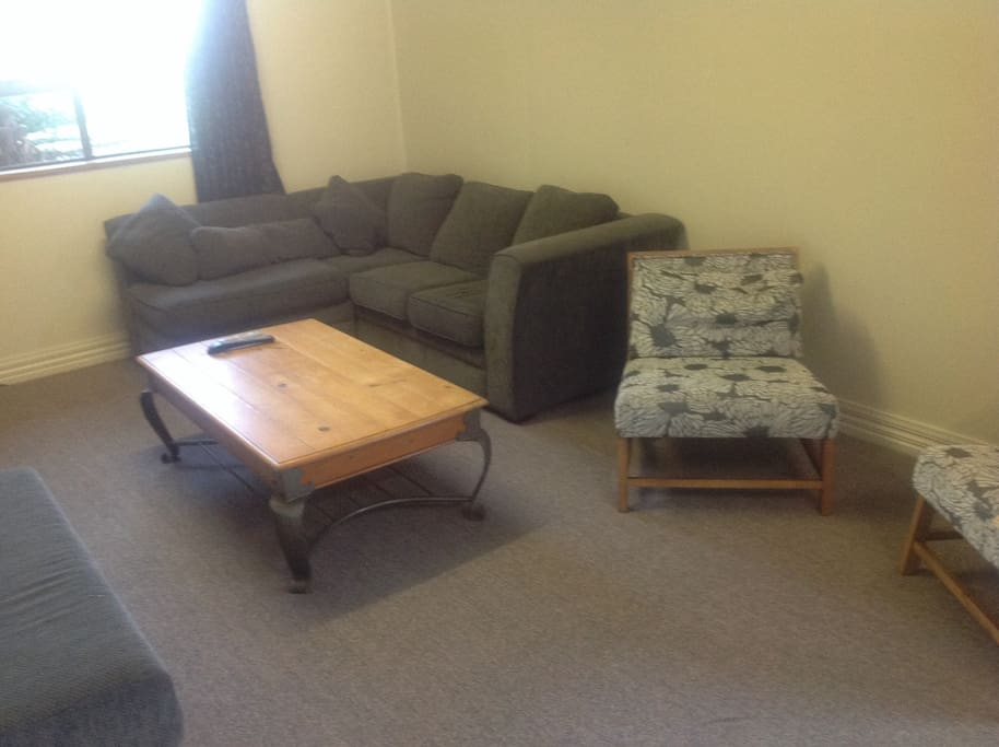 Lounge with fold out couch if needed