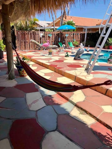 Take a nap in one of our hammocks