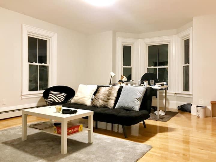 Spacious Apartment/Private Room near Harvard
