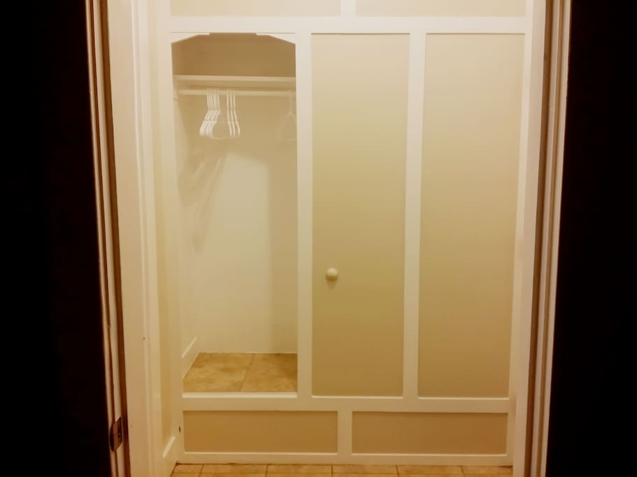 Coat Closet in Entry
