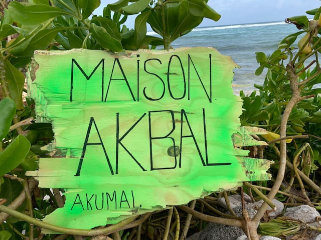 In touch with nature Maison Akbal, beach front