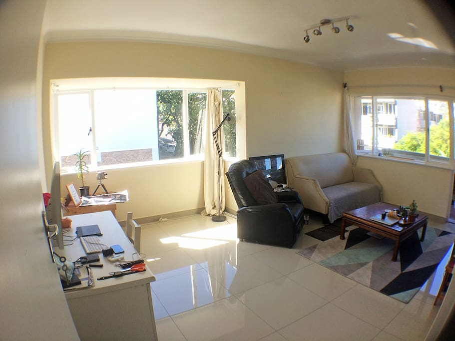 Spacious and well lit living room