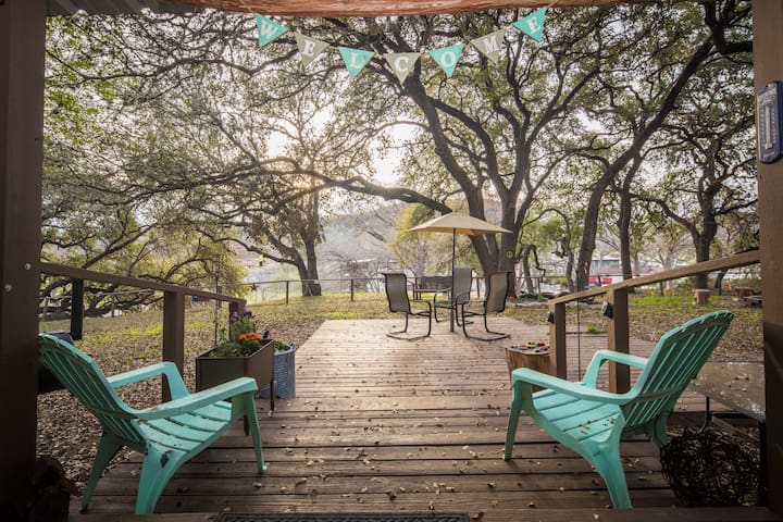 Honey Haus On The Horseshoe (Guadalupe River), across from Whitewater Amphitheater!