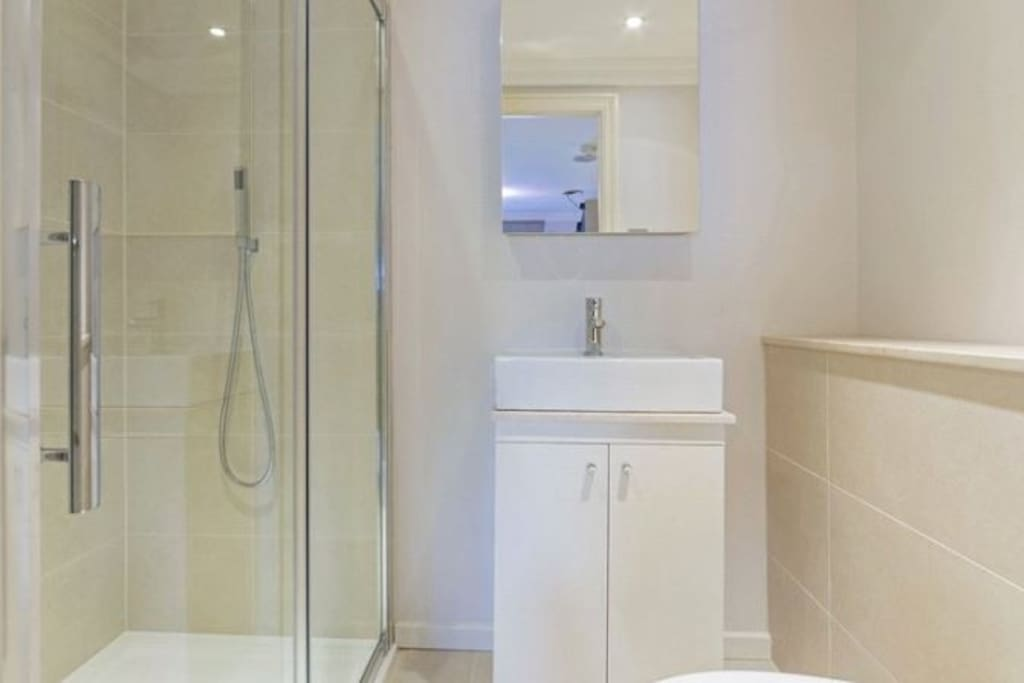 Private ensuite bathroom - includes a rainshower plus a hand held shower and private toilet