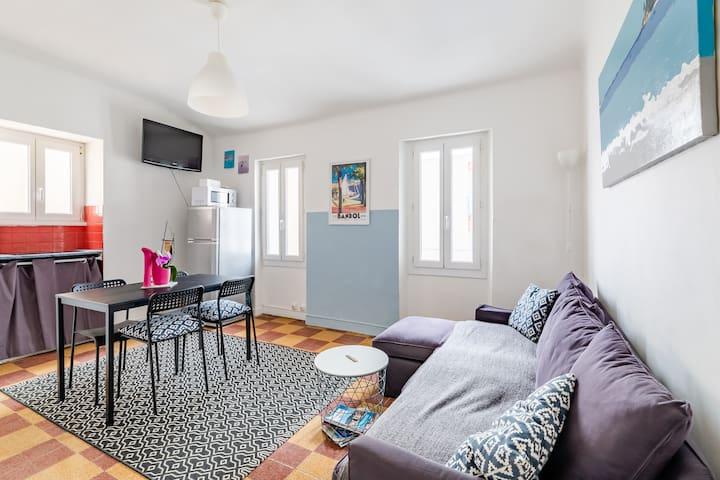 Appartement T2 28 m2, 2 à 4 pers, Bandol plage