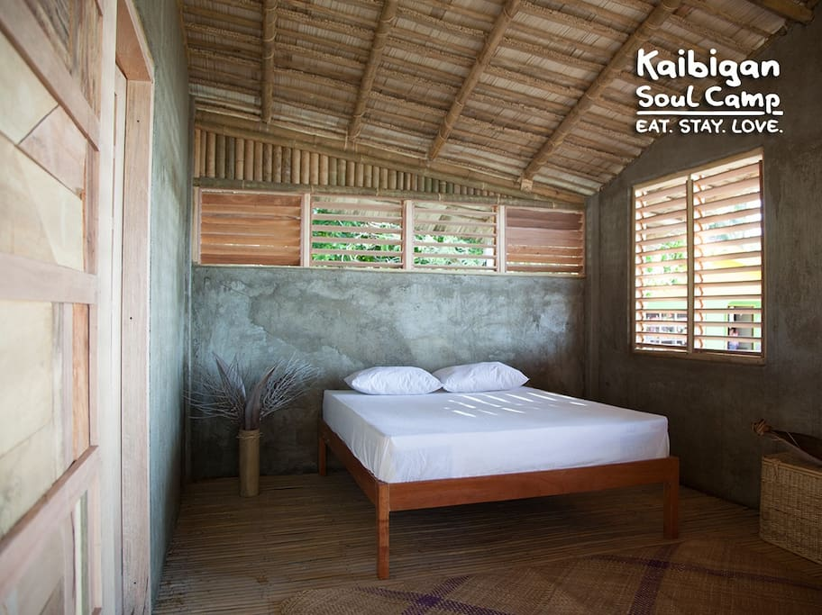 Kaibigan Soul Camp Palawan • longhouse • WHALE SHARK BEACHSIDE • bed room