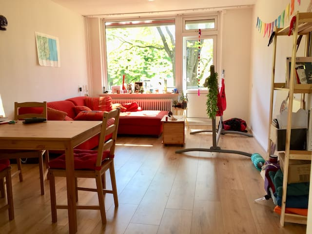 Spacious room in new bright apartment
