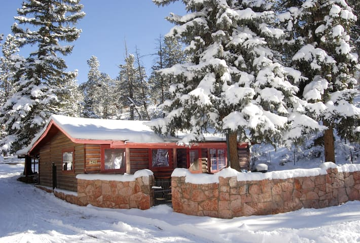 Pikes Peak Log Cabin sleeps 2 adults & 2 children