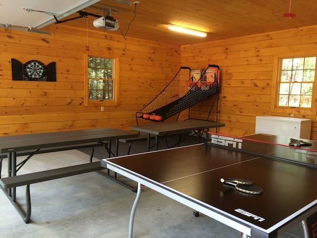 Ping Pong in the game room.