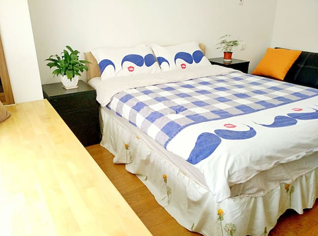 15min to Pudong Airport ,PVG pick up,own bathroom! - Szanghaj - Apartament