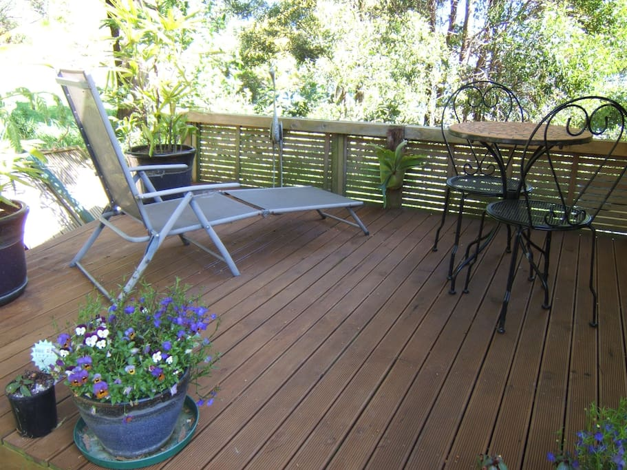 Your private deck off the large bedroom
