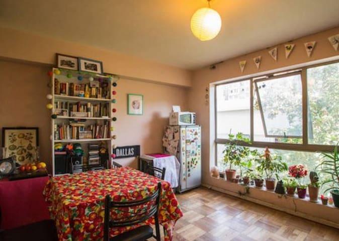 FUTON BED en LIVING ROOM Depto. Bellas Artes - Santiago - Bed & Breakfast