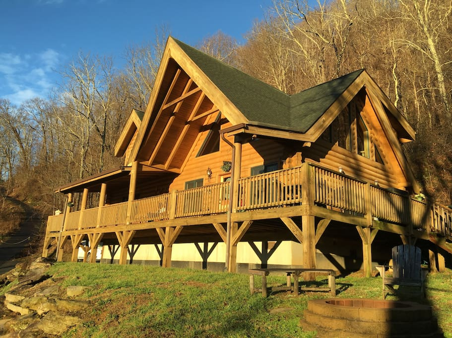 real log cabin 2 king size masters cabins for rent in