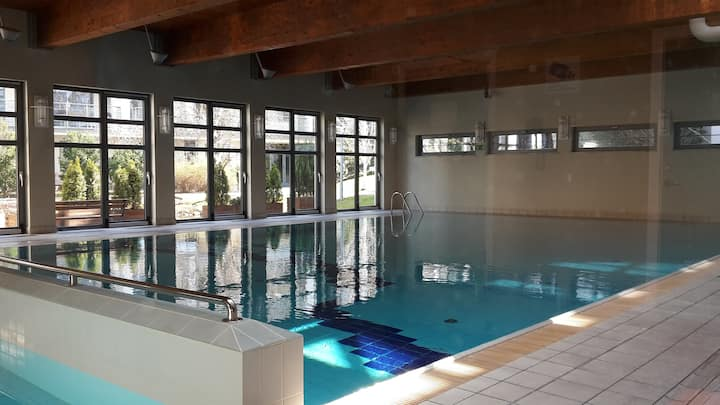 52 m2 apartment with gym & swimming pool