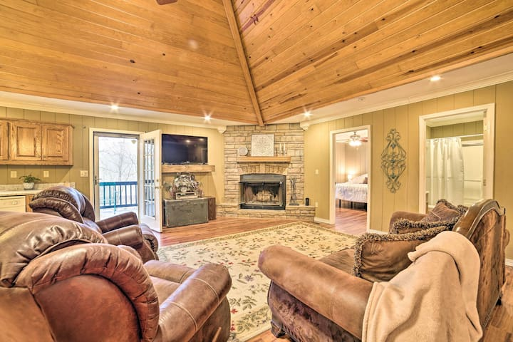 NEW! Little Bear Creek Home w/ Lake View, Fire Pit