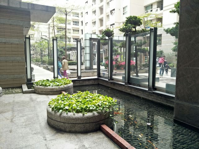 garden at flat complex