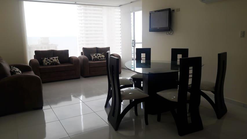 Nuevo departamento 10mo piso hermosa vista al mar - Tonsupa - Apartamento