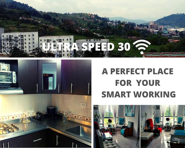 QUIET APARTMENT & ULTRASPEED WIFI  IN CALDAS (ANT)