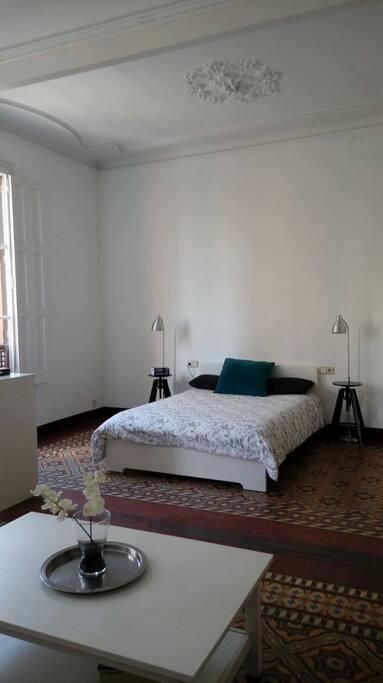 Gran y cómoda habitación. Big and confortable bedroom.