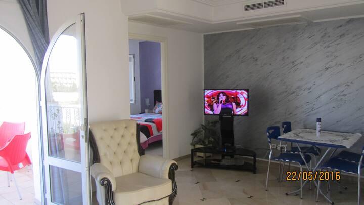 S+1 (70 m²), à hammamet sud, résidence Nesrine