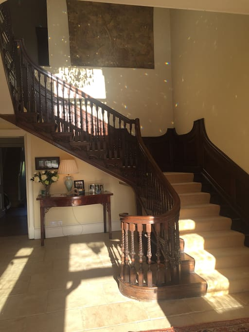 Main staircase in the house