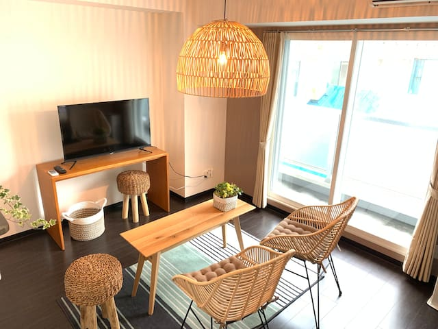 S61 35  The quiet 1 bed room! Walkable to Susukino