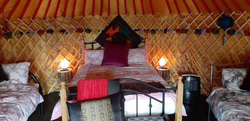 The 'Yurt Cobain' yurt at Willowbrook