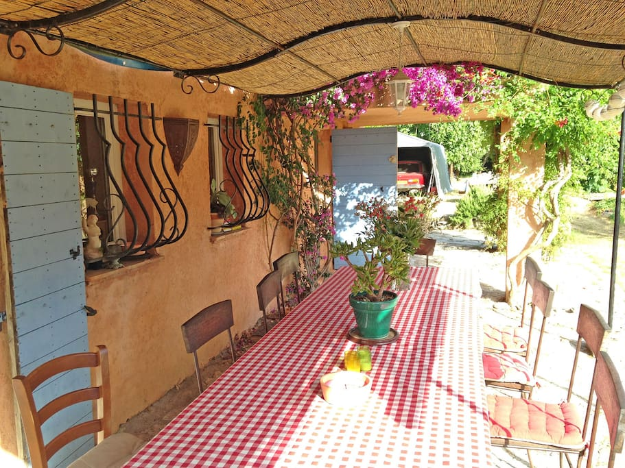 Provencal style terrace perfect for outdoor living on the sunny Côte d'Azur