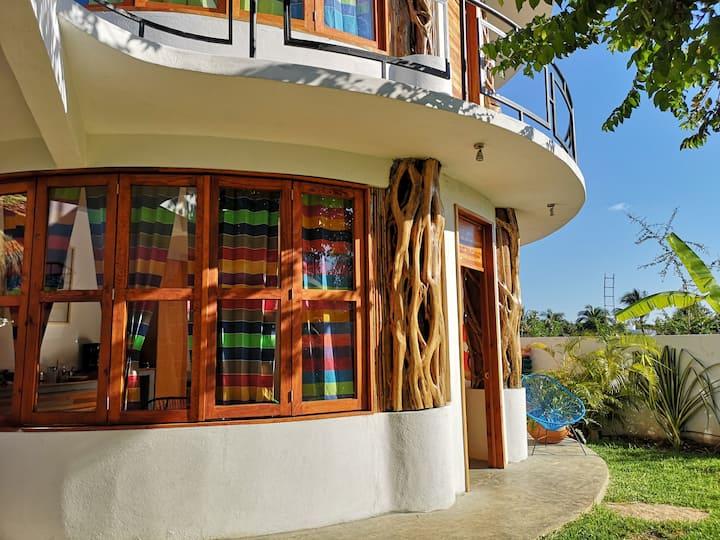 Habitación 4 con A/C en Hotelito con club de playa