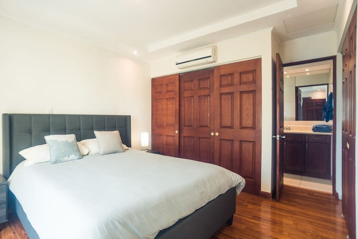 Master Bedroom with A/C.  Queen Size Bed Private Restroom