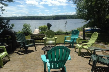 Sebago lakefront house with private beach - Windham - Casa