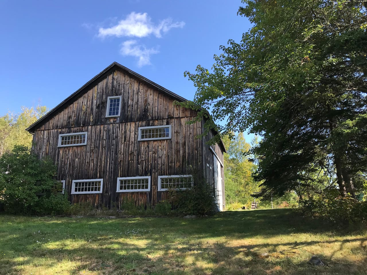 West face of the barn