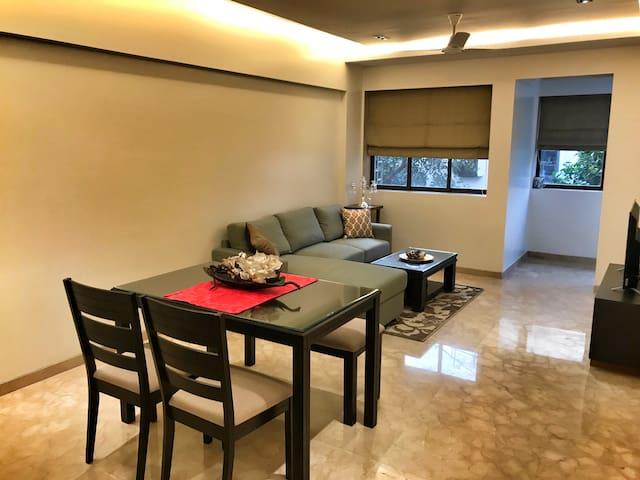 Serene One Bedroom Apartment in Prabhadevi