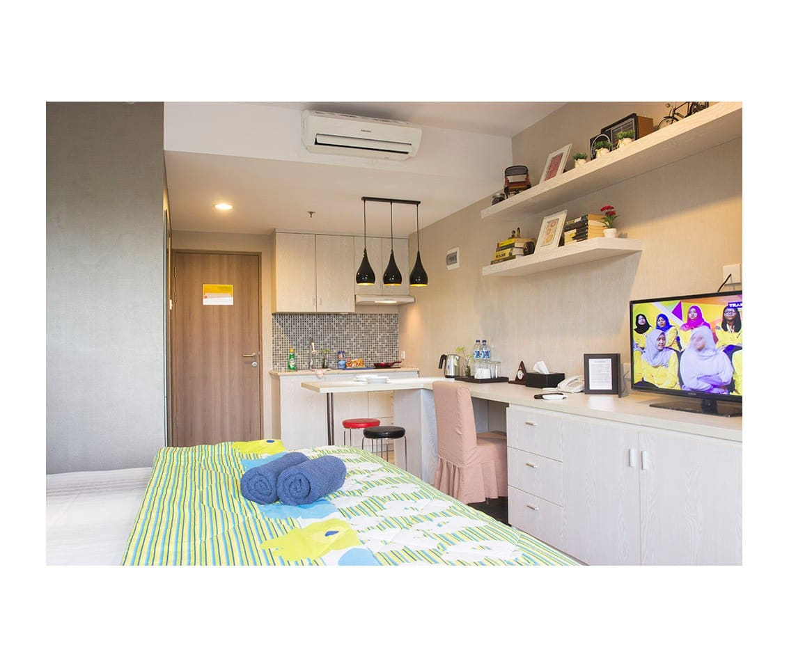 Deluxe apartment Student Park Apartment located at Seturan Raya Street Yogya.