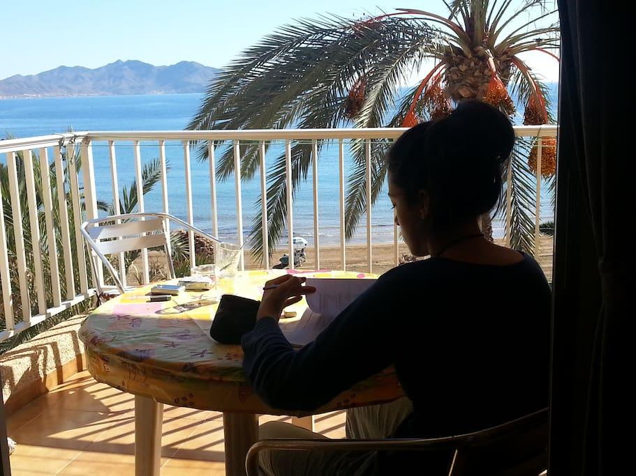 vistas desde la terraza al mar