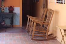 Lugar de descanso para tomar café