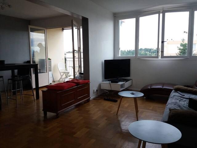 Chambre 13 m2 alliant campagne et ville de Lyon