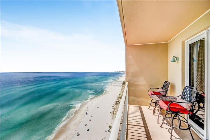 Beachfront for 4 with 2 Baths! *OPEN (PHONE NUMBER HIDDEN) Pools-Seychelles 1504 - Panama City Beach - Apartment