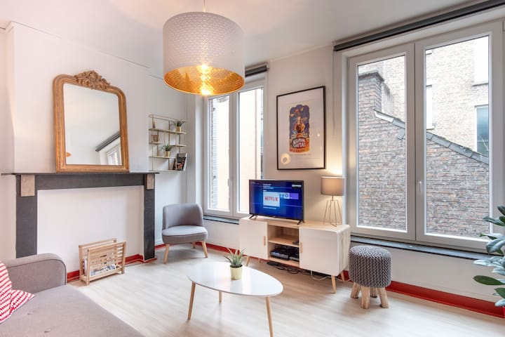 Cozy Central Duplex Apartment in Namur