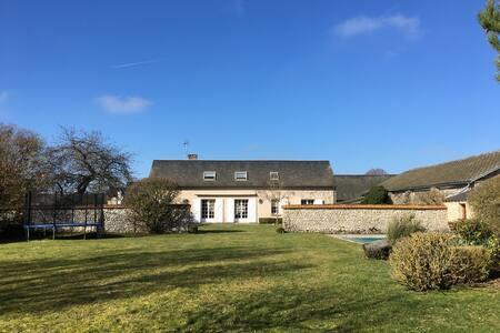 Quiet countryside house 1h Paris near Chartres - Réclainville - 独立屋