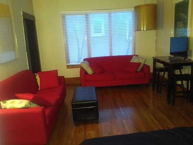 private, spacious main floor downtown suite/apt