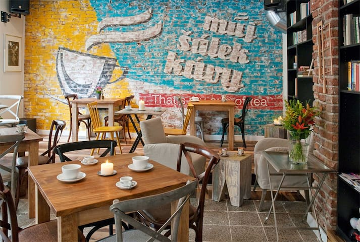 Karlin neghbourhood is famous for various and amazing caffe´s and cool little bistros