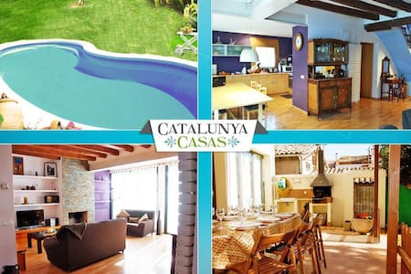 Pleasant 4-bedroom getaway in Berga with a private pool and spacious yard - Barcelona Region - 别墅