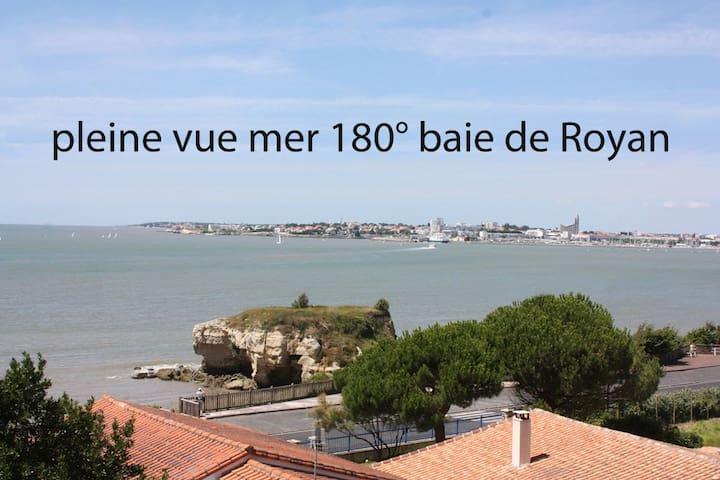 Appt T2 + balcon vue Mer exceptionnelle baie Royan