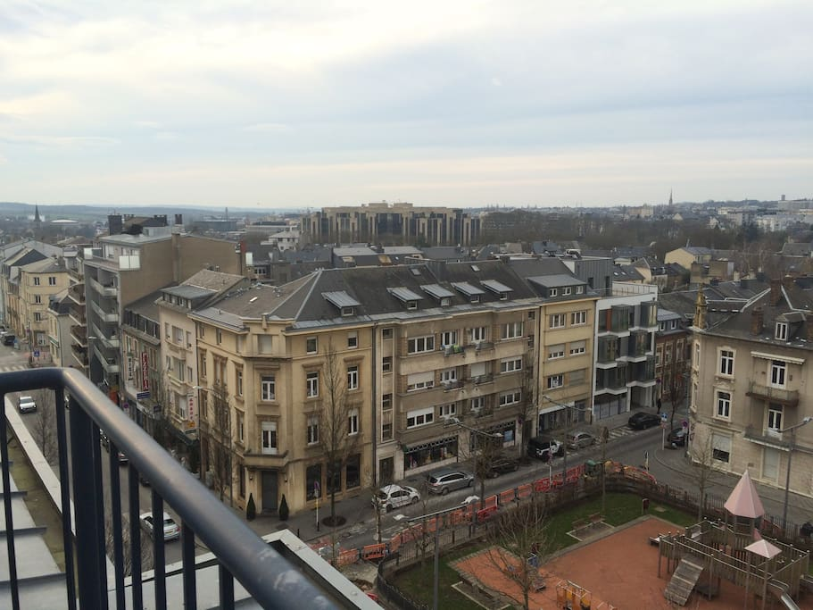 Panoramic view on Luxembourg from the large terrasse.