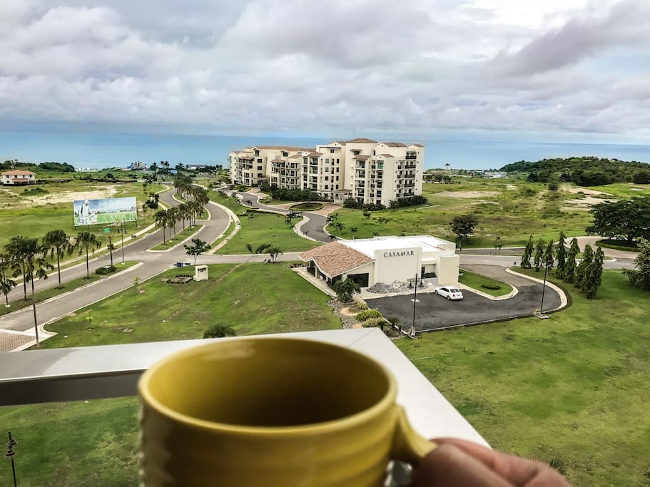 Imagine drinking a warm cup of your favorite coffee in front of this breathtaking beach front view.